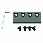 Barn Door Hardware Flat Rail Connector