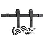 Flat Rail Side Mount Matte Black Barn Door Hardware