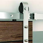 Flat Rail Side Mount Stainless Steel Barn Door Hardware