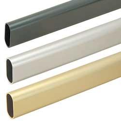 Oval Aluminum Closet Rod